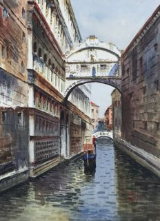 Unknown artist. - The Bridge of Sighs