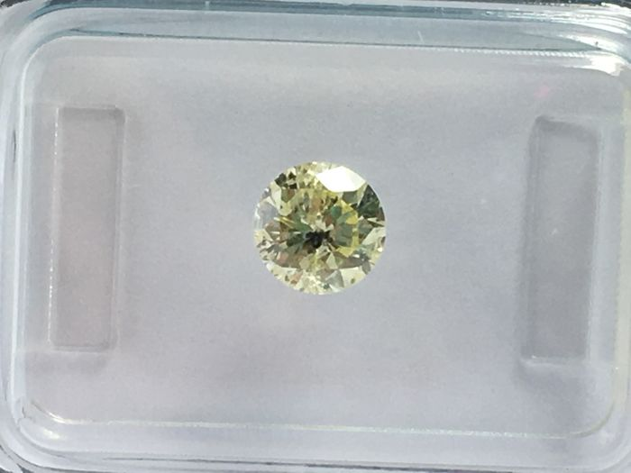 Brilliant cut diamond 0.62 ct  Y-Z Light Yellow I 1 with IGI Certificate