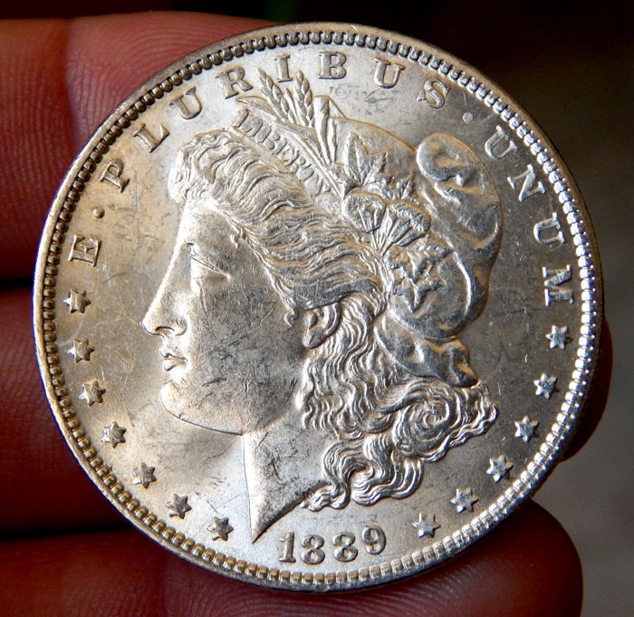 United States - Morgan Dollar 1889 (Philadelphia) - Silver