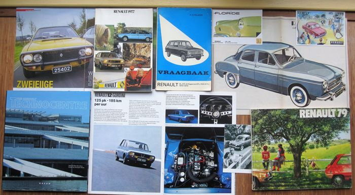 Renault books, brochures, cards and other documentation