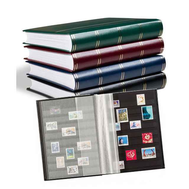 Accessories - 5 Leuchtturm stock books with 32 black pages