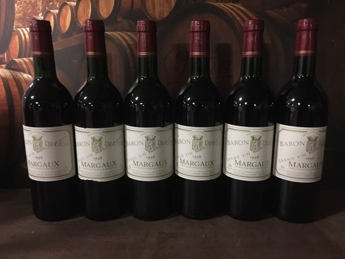 1998 Chateau Baron de lion MARGAUX 6 bottles