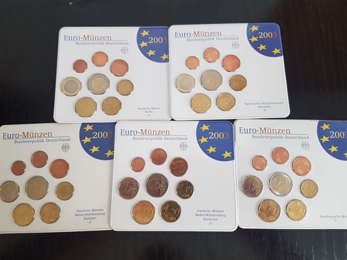 Germany Year Pack 2004 A D F G J 5 Sets Catawiki