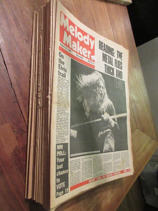 30 x Music magazines from late 70's Sounds (7x) - New Musical Express (6x) - Melody maker (17x)