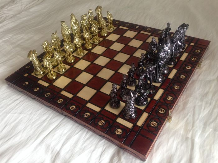 Chess King of Kings on a wooden board