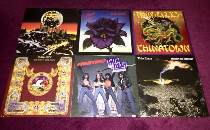 Thin Lizzy - Beautiful Collection of their 6 Vinyl Albums