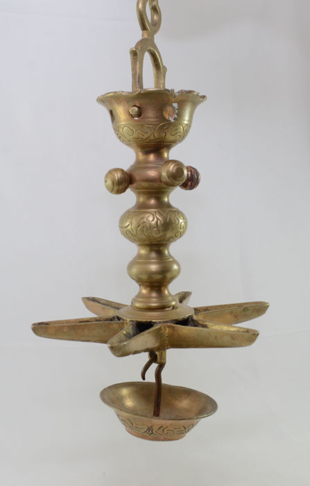 Judaica - Star Of The Jews - Judenstern -  Sculptural bronze - 6 canes - Holland - 20th century