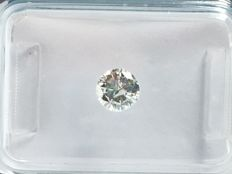 Brilliant cut diamond, 0.42 ct. G I1 with IGI certificate