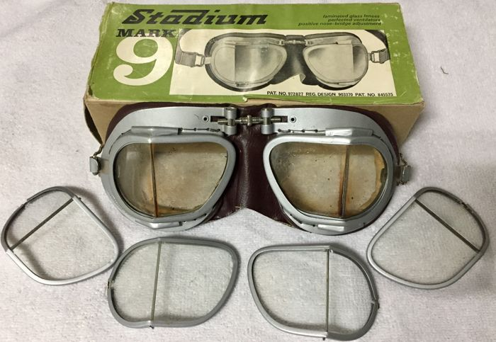 50s Pilot's Goggles, Stadium Mark 9, Made in England