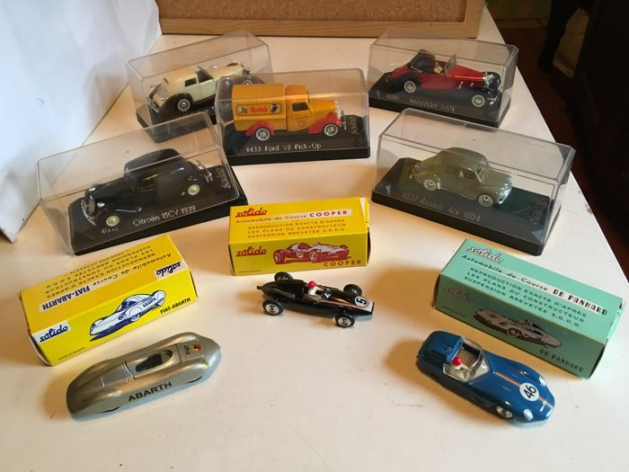 Solidido - Scale 1/43 - Lot of 8 models: Ford, Mercedes, Fiat, Cooper, Cotroen, Delage,, Renault & Panhard