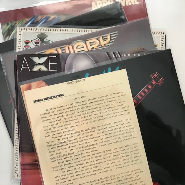 Angel Witch, April Wine, Angel City, Axe, collection of 8 original (hard) rock LP's
