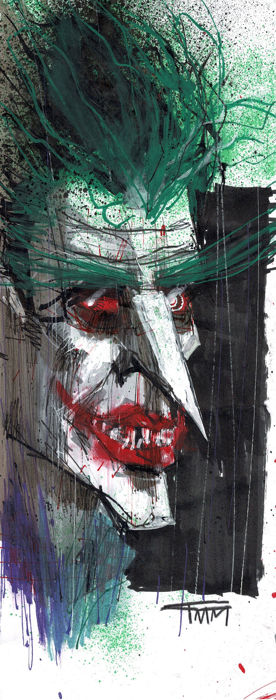 The Joker - DC Comics - Original Drawing - Fran Mariscal