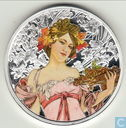 The Mucha Collection - Champagne White Star