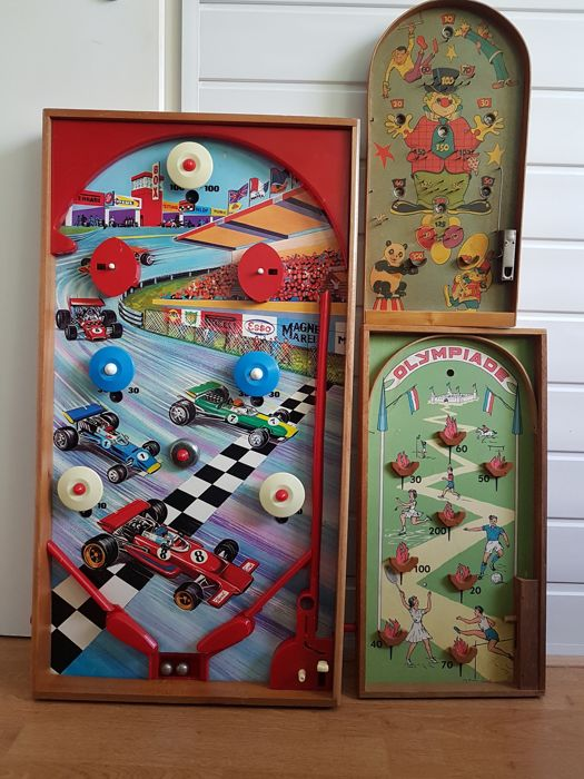 """Olympiade"", Circus, Formula 1 Game of marbles 1940/70"