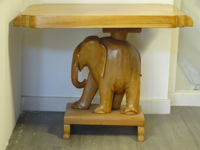 Solid Wooden Elephant Table