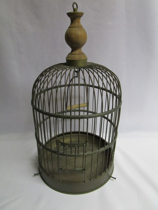 Decorative Cage Bird Cage - Swing - Sliding door - France - 2nd half 20th century