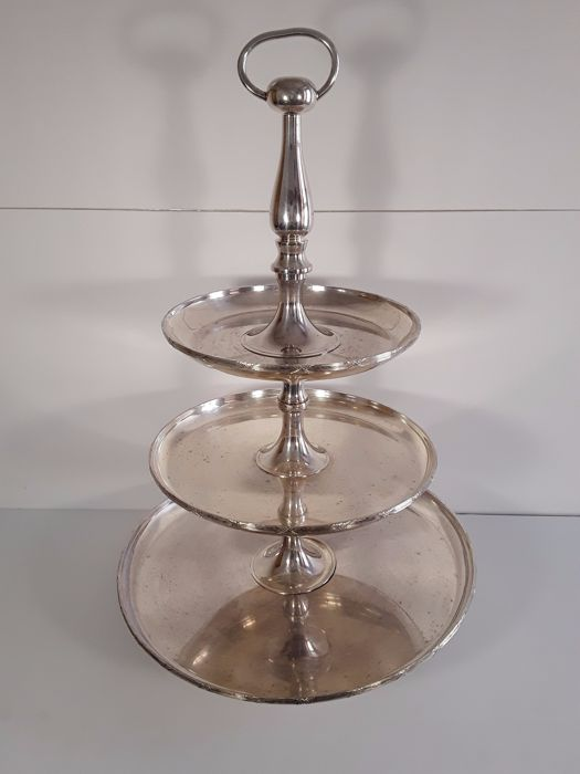 Large silver fruit tray, aprox.1940, France