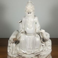 A 'Blanc de Chine' Buddha Sage Statue - China - late 19th/early 20th century