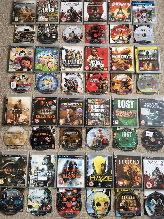Lot of 24  Playstation 3 Games like Classics Like Grand Theft Auto IV - Red Dead Redemption -and more.