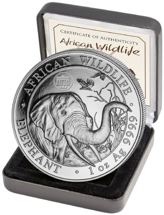 Somalia - 100 shilling - elephant 2018 - privy mark - Brandenburg Gate - Special Edition for the WMF World Money Fair in Berlin