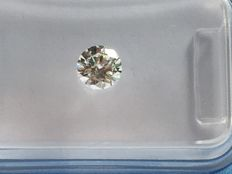 Diamond in brilliant cut total of 0.41 ct White H SI1 with HRD certificate