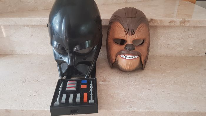 hasbro star wars darth vader and chewbacca electronic mask. Black Bedroom Furniture Sets. Home Design Ideas