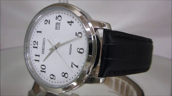 Seiko - Classic Dress Slim Line - RAPID Date watch - 113p1 43mm - Heren - 2011-heden