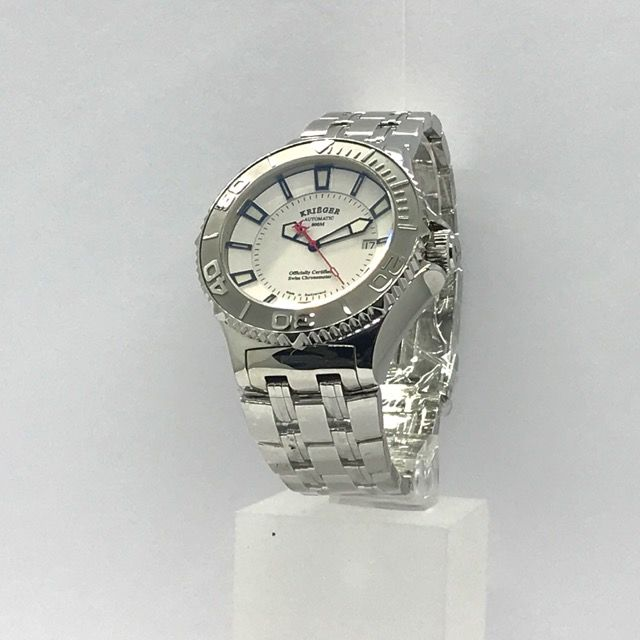 Krieger - Sea Stallion 800M waterproof Stainless Steel Watch - K1001S.2.5 Limited edition White Dial Automatic  - Ανδρικά - 2011-σήμερα