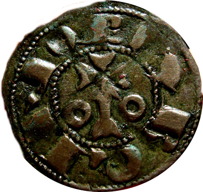 Spain - King Alfonso I and II of Aragón (1162-1196). Vellon Coin (0.86 g, 18 mm). County of Barcelona. BARQINO.