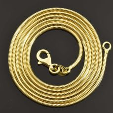 18k Gold. Solid Necklace · Length 60 cm · Weight 7.34 g. No reserve price.
