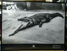 Helmut Newton - Crocodile eating ballerina, 1983