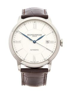 Baume & Mercier - Classima 40 mm Brown Leather Blue Hands - 10214 - Unisex - 2017
