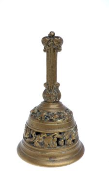 Bronze open-worked table bell - marked LF - 19th Century - Netherlands