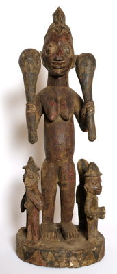 Majestic Shango Shrine Figure – Yoruba – Nigeria