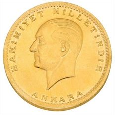 Turkey - 100 Kurush Ata Lira Gold , 22 Ct, 7.20g,  Turkey/ New