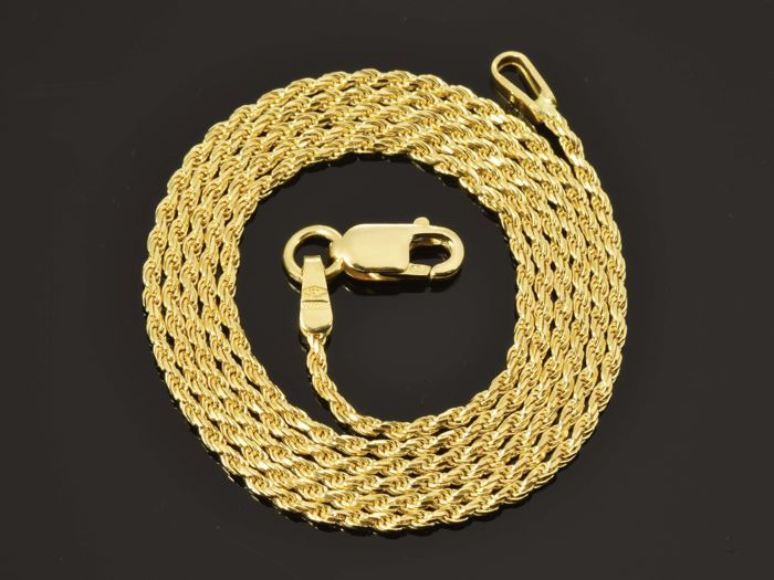 18k Gold Necklace. Solid Chain. Rope · Length 60 cm · Weight 4.71 g. No reserve price