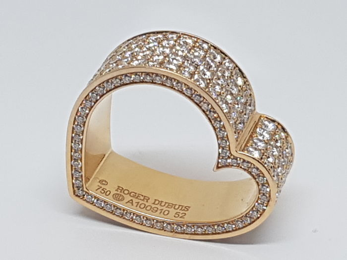"Roger Dubuis – Diamond Eternity Alliance Ring "" My Heart "" - 18K Rose Gold"