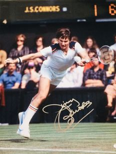 Jimmy Connors - Authentic & Original Signed Autograph in a Professional Big  Photo ( 40 x 50 cm ) - with Certificate of Authenticity JSA