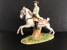 A Meissen equestrian figure, Germany, saxony, mid 18th century