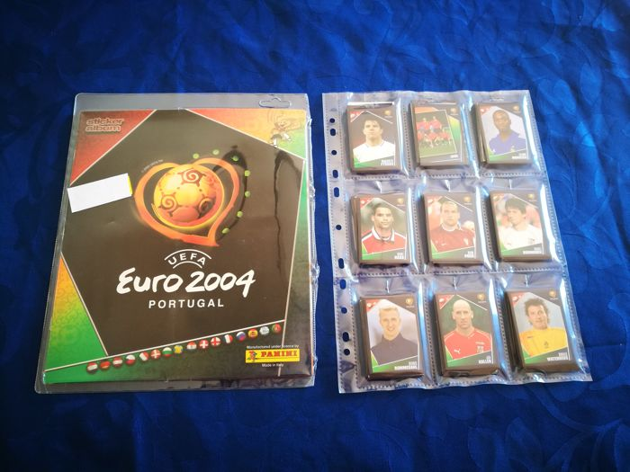 Panini - UEFA Euro 2004 Portugal  - Álbum empty + all 334 stickers.