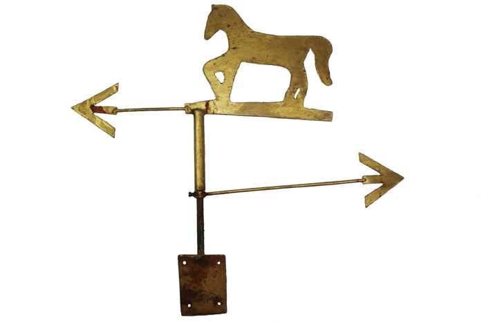 Vintage horse weathervane, Netherlands, mid 20th century.