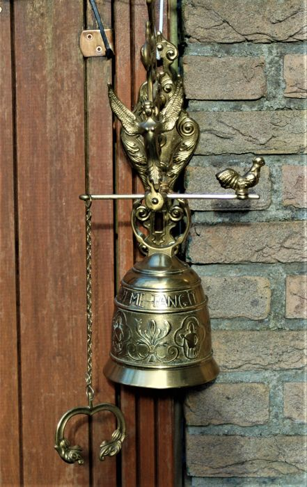 Large heavy copper gate bell