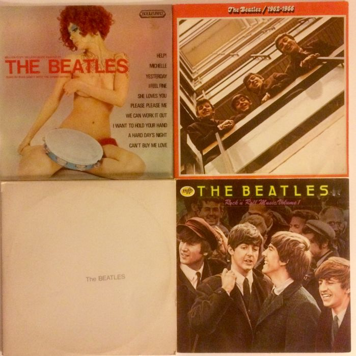 The Beatles - 4  double lp albums, incl original photo-posters