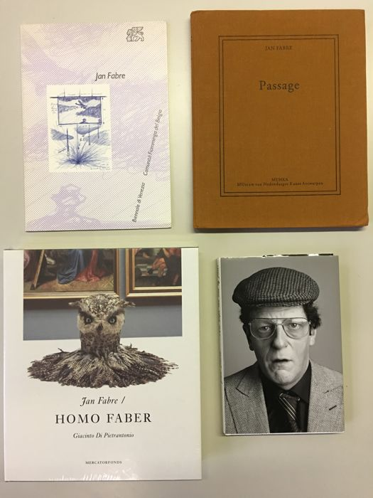Jan Fabre - Lot with 4 books - 1984 / 2010
