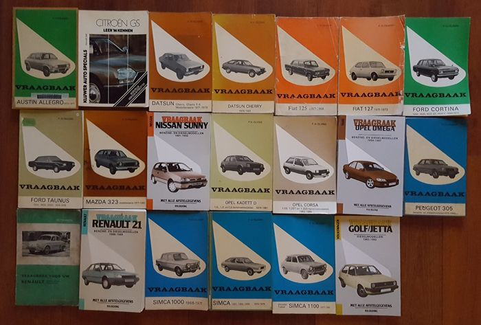 Lot of 20 FAQ booklets ranging from Austin to Volkswagen
