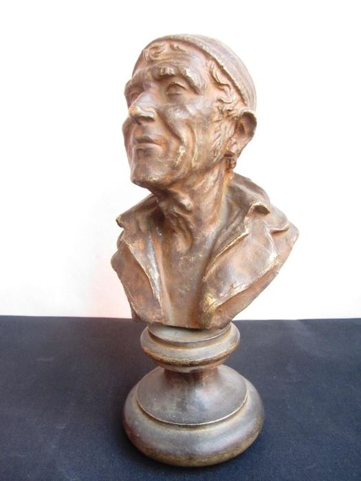 Bronze bust depicting a fisherman, replica of a work by G. Bucciano, Italy, 20th century