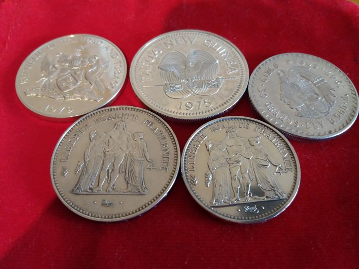World - Lot of 5 silver coins - Silver