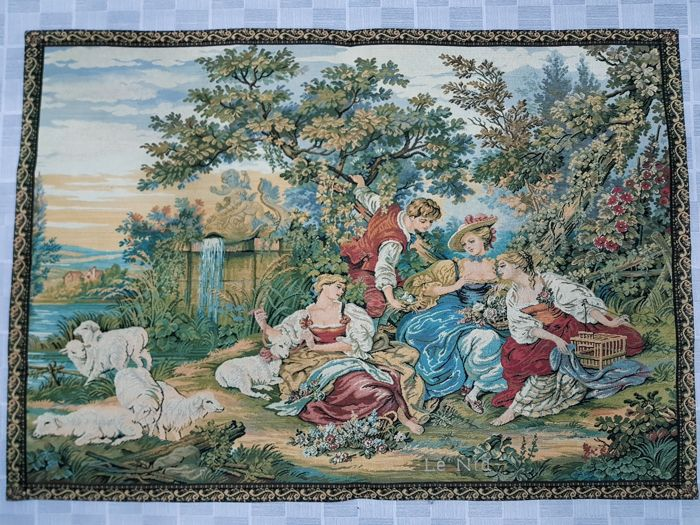 Vintage pictorial tapestry, Germany 98 cm x 68 cm