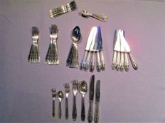 Cutlery Solingen Germany - Art Deco - 100 silver-plating - 42 pieces for 6 persons