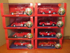 M4 - Scale 1/43 - Lot with 8 Alfa Romeo models from the 70s/80s